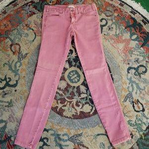 FREE PEOPLE Salmon Pink Skinny Jeans
